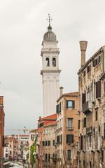 Venedig, historische Altstadt, Turm, Kanal, Frühling, Italien