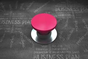 Composite image of pink push button