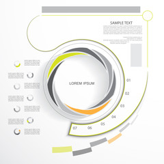 Business infographic template, flat design