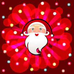Santa Claus cartoon vector background