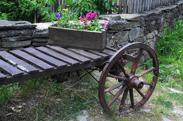 Flower Box on the Cart