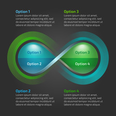 Eco water drop nature infinity loop infographic with text