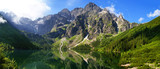 Fototapety Beautiful scenery of Tatra mountains and Eye of the Sea