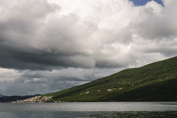 Cloudy day over the Bay of Kotor