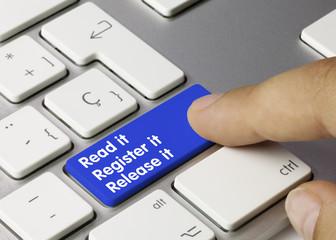 Read it, register it and release it. Keyboard