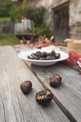 Italien,Südtirol,bereit Snacks auf dem Tisch