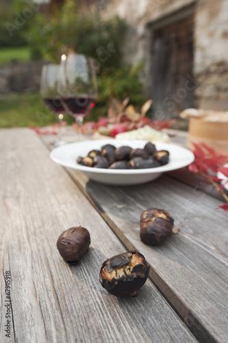 canvas print picture Italien,Südtirol,bereit Snacks auf dem Tisch
