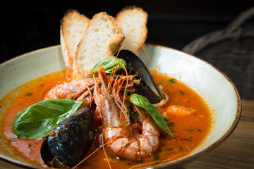 risotto with mussels, prawns and seafood