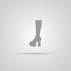 Woman Hessian boots icon
