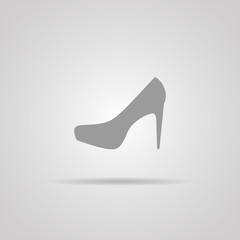 Elegant women's shoe - Vector icon