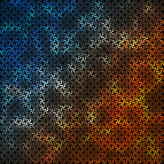 Multicolored background consisting of abstract elements