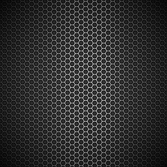 Metallic honeycomb background