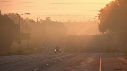 朝焼けの道路8