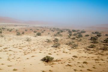 Ascension de Crazy Dune en Namibie
