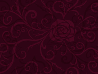 Rose and thorns pattern
