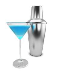 Shaker and martini