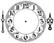 Vector vintage clock - 67918372