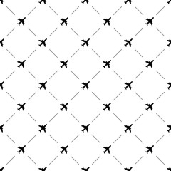 Vector seamless pattern, airplane