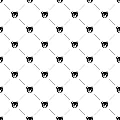 Vector seamless pattern, bear toy