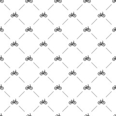 Vector seamless pattern, bike