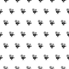 Vector seamless pattern, cinema