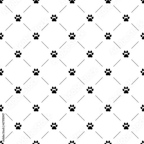 fototapeta na ścianę Wektor bez szwu, łapa kota