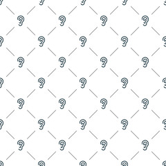 Vector seamless pattern, ear