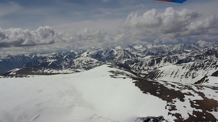 Stock Video Footage Flying along the glacier