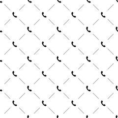Vector seamless pattern, phone call