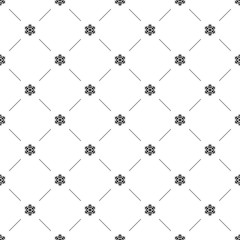Vector seamless pattern, snowflake