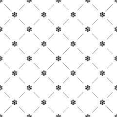 Vector seamless pattern, snowflake
