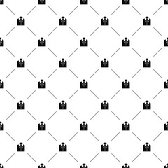 Vector seamless pattern, suit