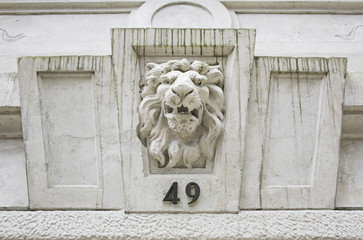 Building with lion