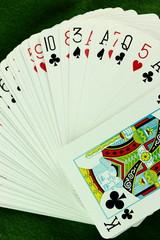 Mazzo di carte aperto