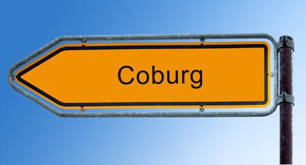 Strassenschild 7 - Coburg