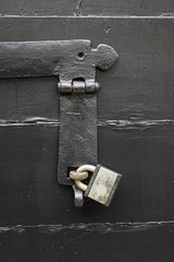 Padlock closed door