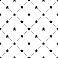 Vector seamless pattern, turtle