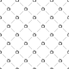 Vector seamless pattern, tv