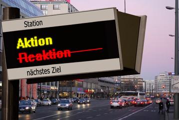 Anzeigetafel 5 - Aktion