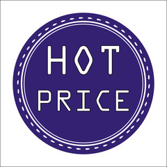 Hot price sticker