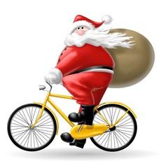 babbo natale in bici