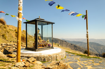 Buddhist shrine at O Sel Ling in Alpujarra, Spain