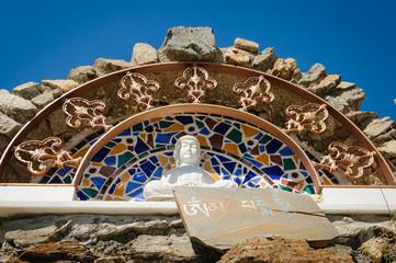 Buddhist shrine at O Sel Ling, Alpujarra, Spain