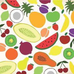 Vector collection of various fruits