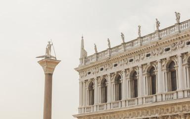 Venedig, Altstadt, Palast, Monolithsäule, Piazza, Italien