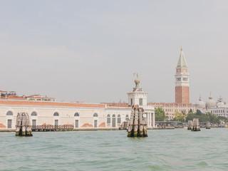 Venedig, Altstadt, Markusturm, Turm, Kanal, Frühling, Italien