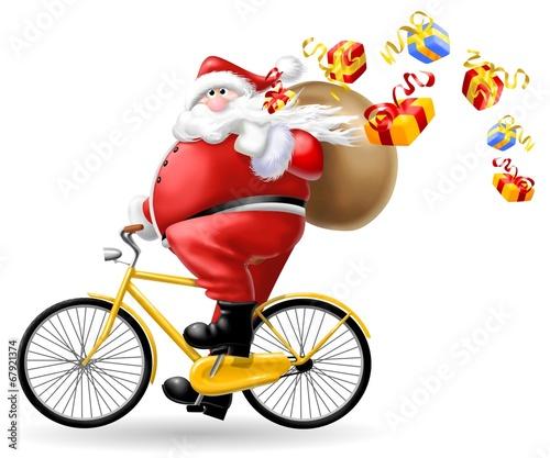 babbo natale in bici - 67921374