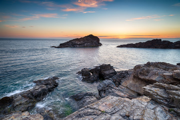 Sunset on the Cornwall Coast
