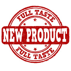 New product, full taste stamp