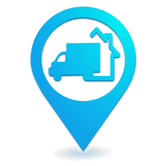 livraison à domicile sur symbole localisation bleu